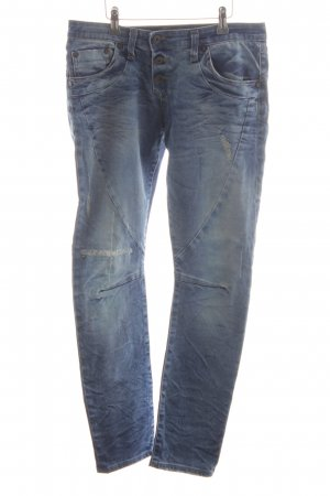 Please Jeans boyfriend bleu acier style décontracté