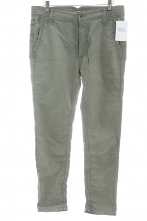 Please Pantalone di velluto a coste cachi stile casual