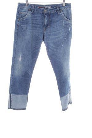 PLEASE Denim 3/4 Length Jeans blue street-fashion look