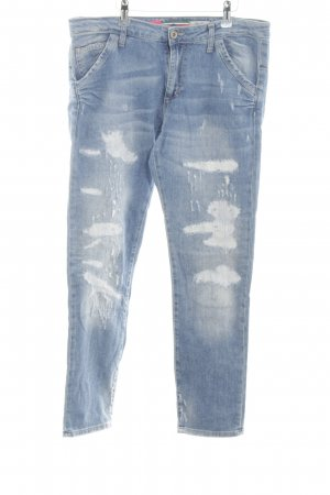 PLEASE Denim Baggy jeans blauw casual uitstraling
