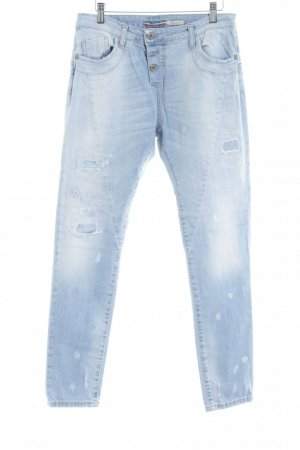 Please Boyfriend Jeans azure cotton