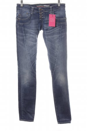 PLEASE Denim Low Rise Jeans dark blue-cornflower blue casual look