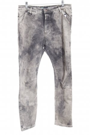 PLEASE Denim Skinny Jeans grau-hellgrau meliert Casual-Look