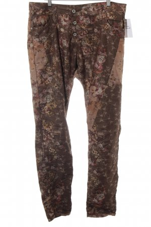 PLEASE Denim Slim Jeans Allover-Druck Romantik-Look