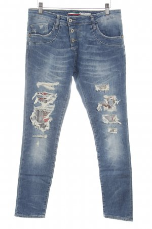 PLEASE Denim Slim Jeans kornblumenblau Casual-Look