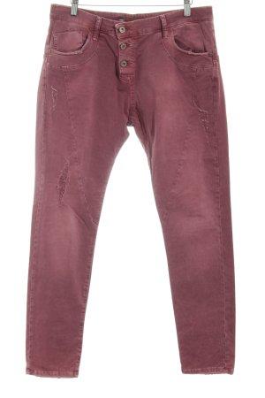Please Pantalon cinq poches rouge style décontracté