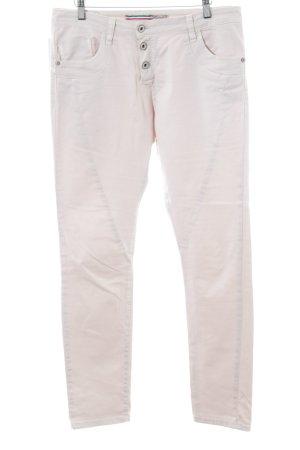 Please Pantalone cinque tasche bianco elegante
