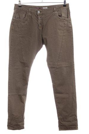 Please Pantalón de cinco bolsillos color bronce look casual