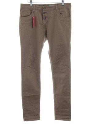 Please Pantalón de cinco bolsillos ocre look Street-Style