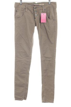 Please Pantalon cinq poches vert olive style décontracté
