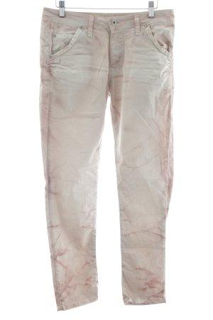 Please Pantalone cinque tasche bianco sporco-malva stile casual
