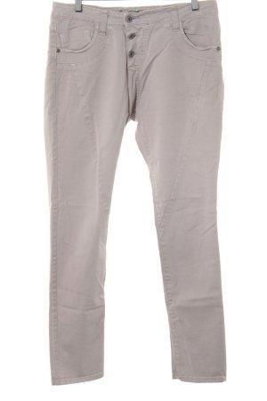 Please Pantalón de cintura alta beige look casual