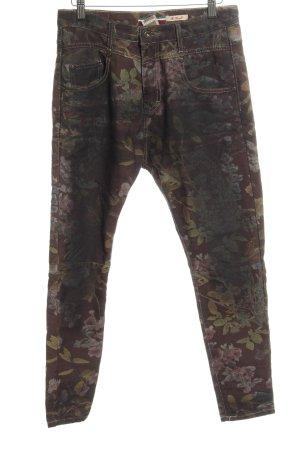 Please High Waist Jeans Blumenmuster schlichter Stil