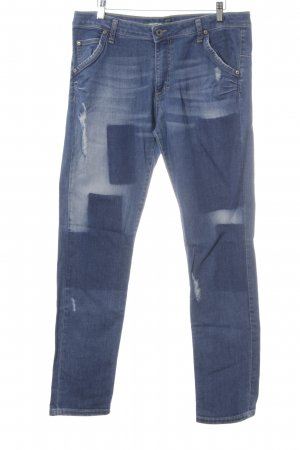 Please High Waist Jeans cornflower blue casual look