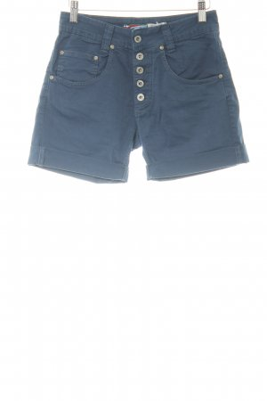 Please High-Waist-Shorts dunkelblau Casual-Look