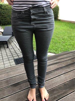Please Pantalone boyfriend grigio scuro-grigio