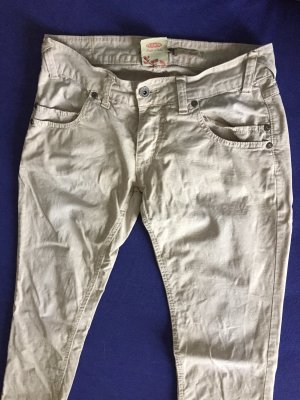 Please Low-Rise Trousers cream-natural white