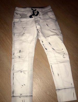 Please Pantalon boyfriend gris clair