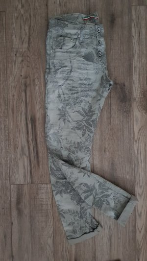 Please Hose grau Paisley Muster Small
