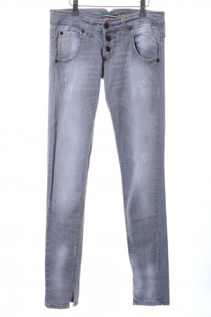 Please Low Rise Jeans light grey casual look