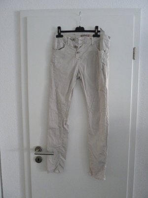 Please Italy Hose Jeans Boyfriend Baggy grau beige Gr. X Small