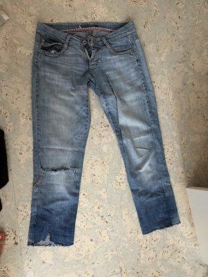 Please Jeans a 7/8 azzurro