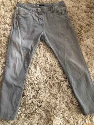 PLEASE Denim Jeans boyfriend grigio chiaro