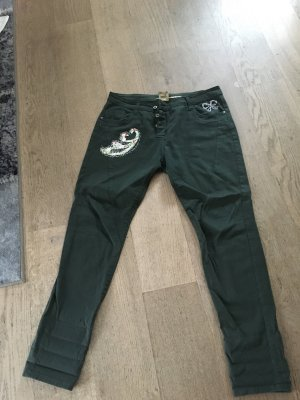 Please Jeans boyfriend verde scuro