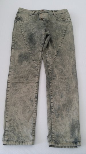 Please Jeans Gold - Grün beschichtet Grösse S