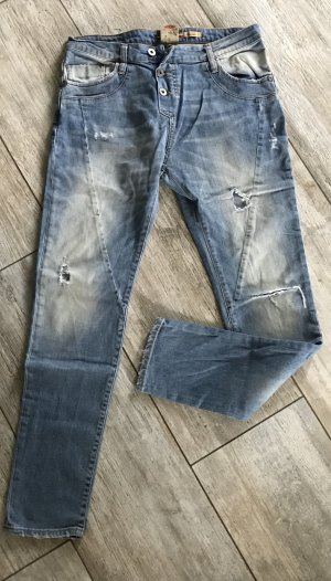 PLEASE Denim Low Rise jeans lichtblauw