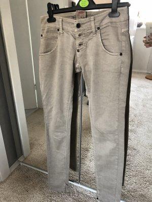 Please Jeans Hose Gr. xs 34 grau braun