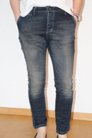 PLEASE Denim Boyfriend Jeans dark blue