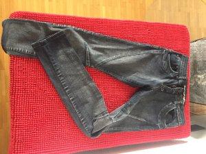 Please Low Rise Jeans black-anthracite cotton