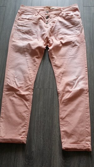 Please Jeans Pastell Orange Größe M