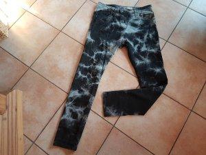Please Jeans schwarz grau Gr. S