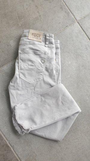 Please Jeans stretch argenté-gris clair