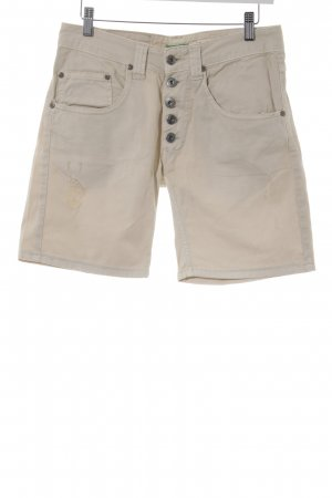 Please Jeansshorts creme Used-Optik