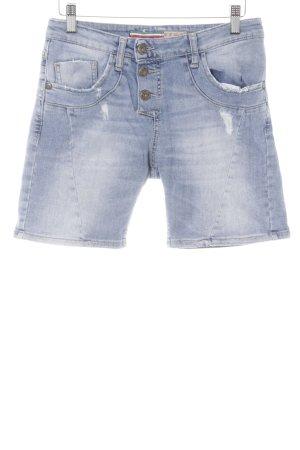 Please Spijkershort lichtblauw Jeans-look