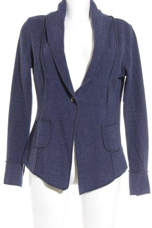 Please Jerseyblazer blau abstraktes Muster Casual-Look