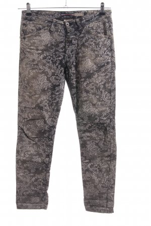 Please Peg Top Trousers allover print casual look