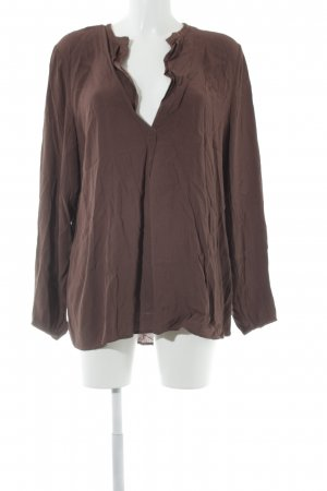 Please Langarm-Bluse dunkelbraun Casual-Look