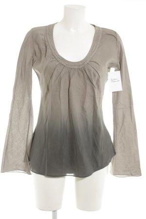 Please Langarm-Bluse graubraun-grau Farbverlauf Casual-Look