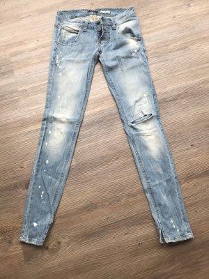 Please Jeans taille basse bleu azur