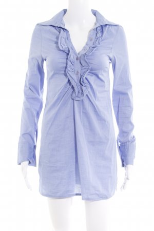Please Long-Bluse kornblumenblau Casual-Look