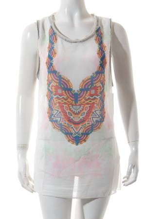 Please Longtop abstrakter Druck Hippie-Look