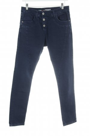 Please Now Five-Pocket Trousers dark blue casual look