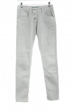 Please Now Five-Pocket Trousers light grey casual look
