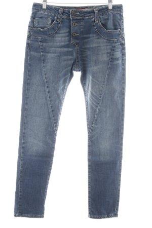 Please Now Skinny jeans blauw zure was