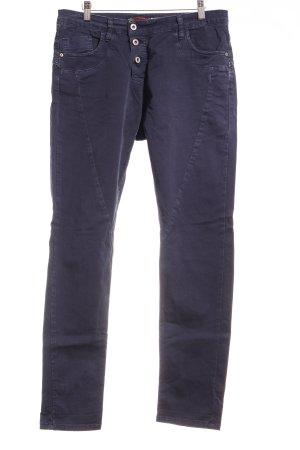 Please Now Slim Jeans dunkelblau Street-Fashion-Look
