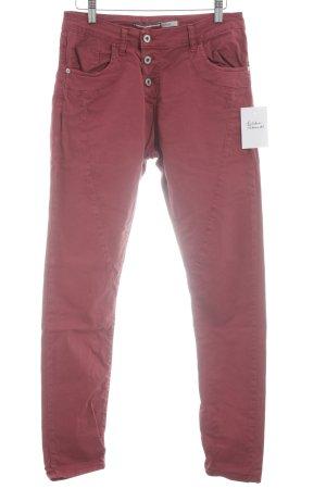 Please Now Slim Jeans ziegelrot Casual-Look
